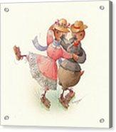 Skating Ducks 11 Acrylic Print