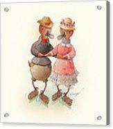 Skating Ducks 6 Acrylic Print by Kestutis Kasparavicius