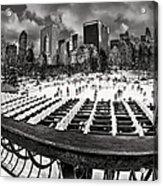 Skating In Central Park Acrylic Print