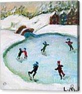 Skating Pond Acrylic Print