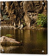 Skc 2964 The Rustic Rocks And Ripply Waters Acrylic Print
