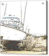 Skeleton Boat Acrylic Print