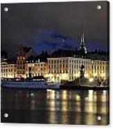 Skeppsbron At Night Acrylic Print