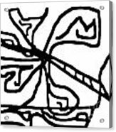 Sketch 18 Acrylic Print by Meenal C