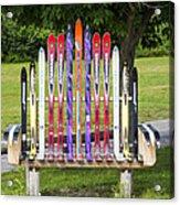 Ski Bench - Fort Foster - Maine Acrylic Print