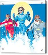 Ski Fun Art Acrylic Print