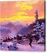 Ski Acrylic Print by Pg Reproductions