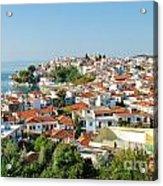 Skiathos Harbour In Greece Acrylic Print