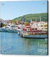 Skiathos Town Harbour Acrylic Print