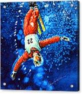 Skier Iphone Case Acrylic Print