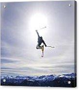 Skier Jumping, Courtenay, Bc Acrylic Print