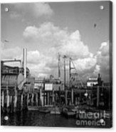 Skiffs At  Montereys Fisherman's Wharf California Circa 1945 Acrylic Print