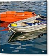 Skiffs At The Harbour Acrylic Print