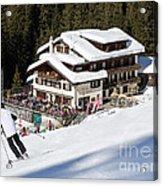 Skihaus Schifer Skier Davos Parsenn Klosters Acrylic Print