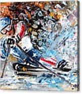 Skiing 04 Acrylic Print
