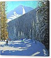Skiing  Beauregard La Clusaz Acrylic Print