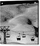 Skiing In Space Acrylic Print
