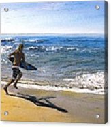 Skim Boarding at Pearl Beach Now Sold Acrylic Print