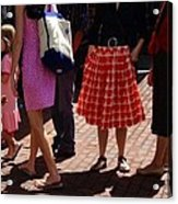 Skirts And Pooches On Capitol Hill Acrylic Print