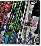 Skis At Mccauley Mountain II Acrylic Print