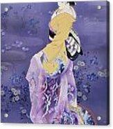Skiyu Purple Robe Acrylic Print by Haruyo Morita