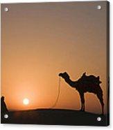 Skn 0887 Sunrise At The Dunes Acrylic Print