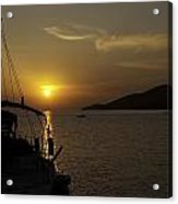 Skopelos - Through The Rigging Acrylic Print