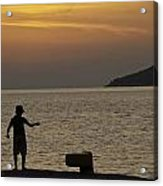 Skopelos Sunset - Fisher Boy - 1 Acrylic Print