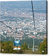Skopje From The Cablecar Acrylic Print