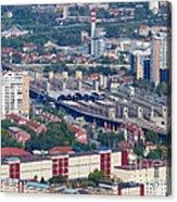 Skopje Railway Station Acrylic Print