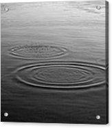 Skc 0211 Three Gradual Circles Acrylic Print