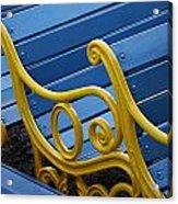 Skc 0246 Garden Benches Acrylic Print