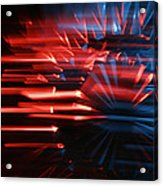 Skc 0272 Crystal Glass In Motion Acrylic Print