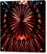 Skc 0285 Cut Glass Plate In Red And Blue Acrylic Print