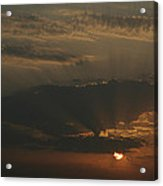 Skc 0320 Rising Rays Acrylic Print