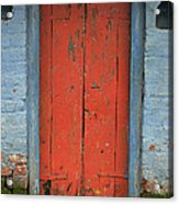 Skc 0401 Closed Red Door Acrylic Print