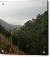 Skc 0763 Dry Green Landscape Acrylic Print