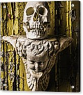 Skull And Angel Acrylic Print