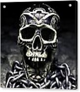 Skull And Chains Acrylic Print