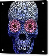 Skull Art - Day Of The Dead 1 Stone Rock'd Acrylic Print
