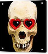 Skull Art - Day Of The Dead 2 Acrylic Print by Sharon Cummings