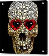 Skull Art - Day Of The Dead 3 Stone Rock'd Acrylic Print