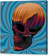 Skull Aura Orange Acrylic Print by Jason Saunders