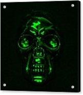 Skull In Green Acrylic Print