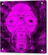 Skull In Negative Purple Acrylic Print
