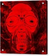 Skull In Negative Red Acrylic Print