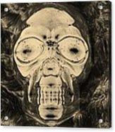 Skull In Negative Sepia Acrylic Print