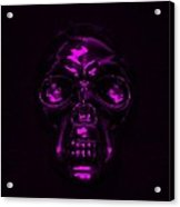 Skull In Purple Acrylic Print