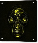 Skull In Yellow Acrylic Print