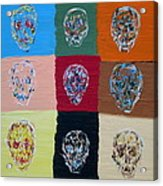 Skull Pop Nine Acrylic Print
